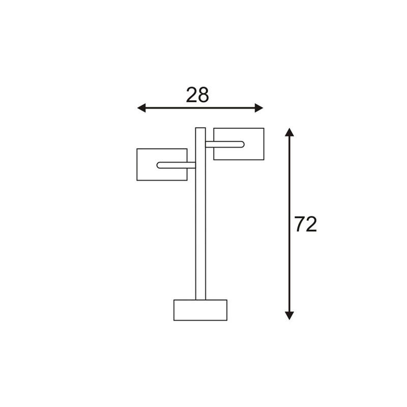 SPOTLINE/SLV SITRA 360 SL zewnętrzna . antracyt. GX53. max. 2x9W 231505 Stojaca