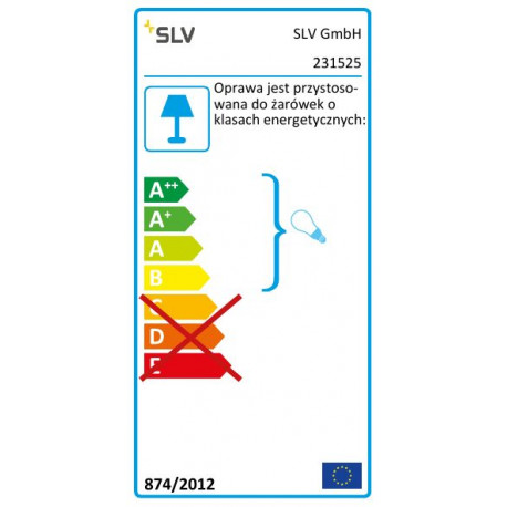 SPOTLINE/SLV SITRA 360 SPIKE. antracyt. GX53. max. 9W. IP44 231525 Zewnętrzna Stojąca