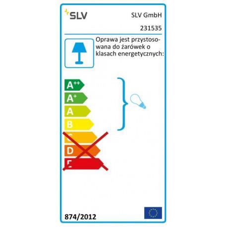 SPOTLINE/SLV SITRA 360 SL SPIKE. antracyt. 2xGX53. max. 9W. IP44 231535 Zewnętrzna Stojąca