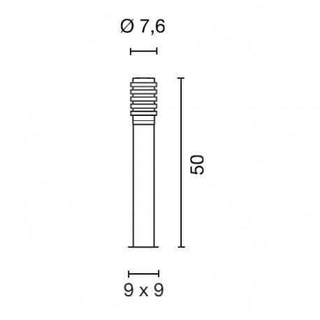 SPOTLINE/SLV BIG NAILS PLUS 50 lampa podłogowa. stal nierdzewna 304. E27. max. 23W. IP44 231602