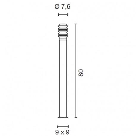 SPOTLINE/SLV BIG NAILS PLUS 80 lampa podłogowa. stal nierdzewna 304. E27. max. 23W. IP44 231612