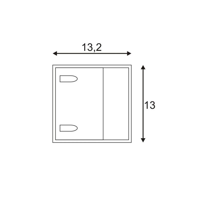 SPOTLINE/SLV LOGS WALL lampa ścienna. kwadratowa. srebrnoszary. 6W LED. ciepły biały 232104