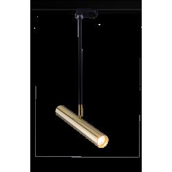 AMPLEX AKADI reflektor pod szynoprzewód II czarny złoty 0138