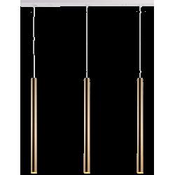 AMPLEX AKADI wisząca 3 biały złoty 0143