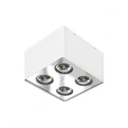 Azzardo NINO 4 WHITE/CHROME 4xGU10 Natynkowa Biały/Chrom AZ0851