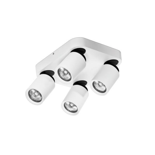 Azzardo TOMI 4 KW WHITE 4xGU10 Reflektor Sufitowy Biały/Szary AZ0682