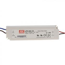 Mean Well Zasilacz do LED Mean Well 60W IP67 LPV-60-12