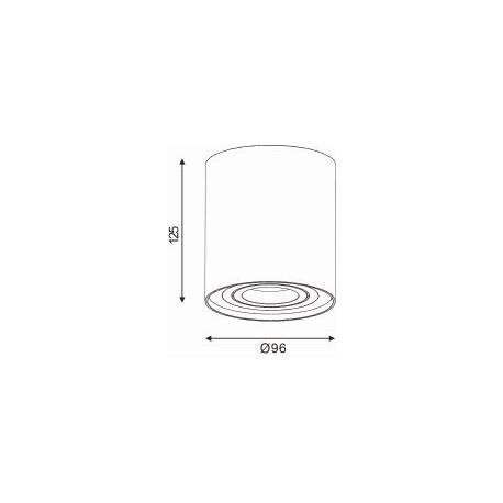 Lucide TUBE Spot Biały Okrągły 1xGU10 22952/01/31 Sufitowa