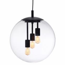 KASPA ALUR L Wisząca Czarny 3 x 25W LED E27 10733102