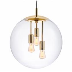 KASPA ALUR L Wisząca Złoty/transparentny 3 x 25W LED E27 10738109