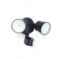 Lutec SHRIMP - CZUJNIK RUCHU Ścienna LED Czarny 7622104330