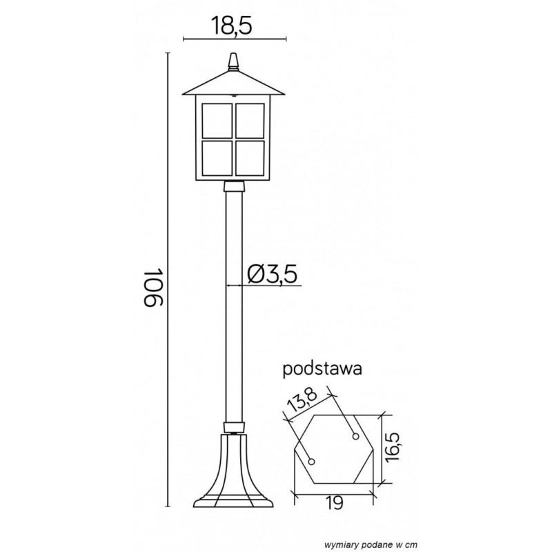 SU-MA Wenecja 106 cm K 5002/2 KW Stojąca