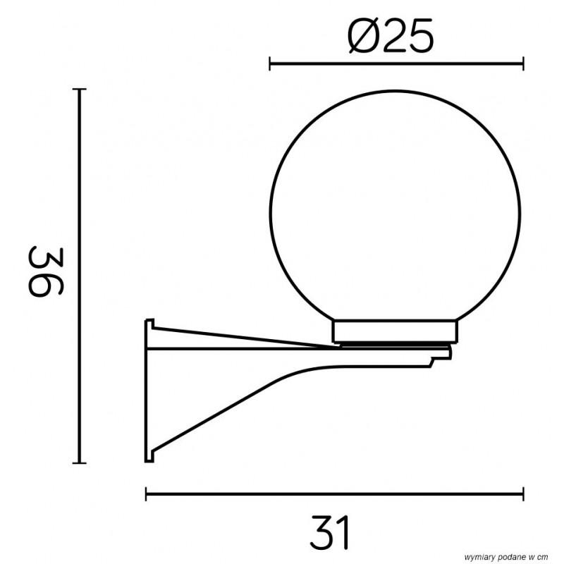 SU-MA Kule/Elipsy 60 K 3012/1/KD 250 Kinkiet