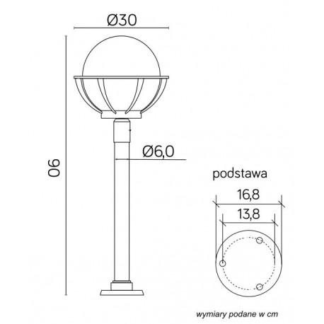 SU-MA Kule z koszykiem 250 (90 cm) K 5002/2/KPO 250 Stojąca