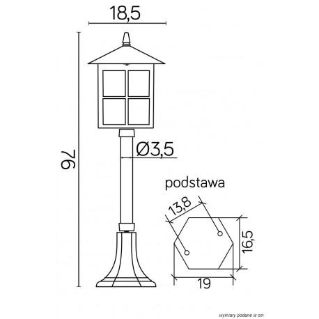 SU-MA Wenecja 76 cm K K 5002/3 KW Stojąca
