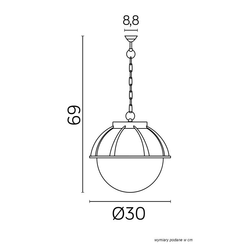 SU-MA Kule z koszykiem 250 K 1018/1/KPO 250 Wisząca
