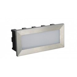 SU-MA MUR LED INOX 187lm 3000K Do zabudowy IP65 C-04