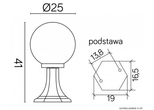 SU-MA Kule Classic K 4011/1/K 250 Stojąca