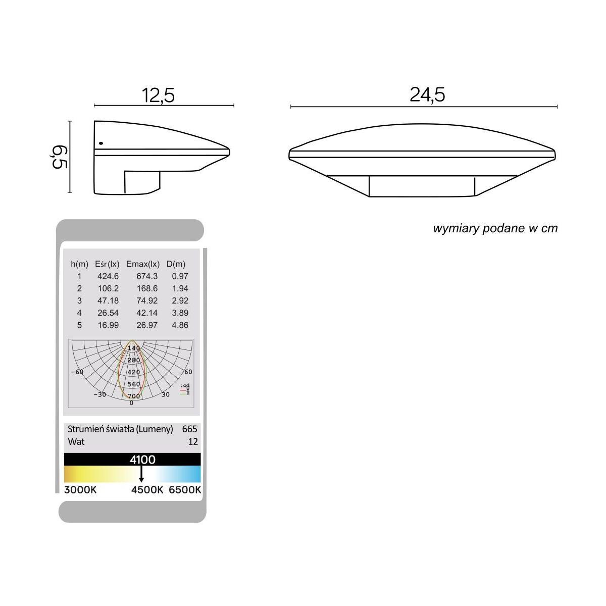 SU-MA UFO 91303-LED Kinkiet