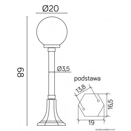 SU-MA Kule Classic 68 cm K 5002/3/KP 200 Stojąca