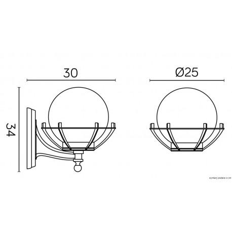 SU-MA Kinkiet Kule z koszykiem 200 K 3012/1/KPO