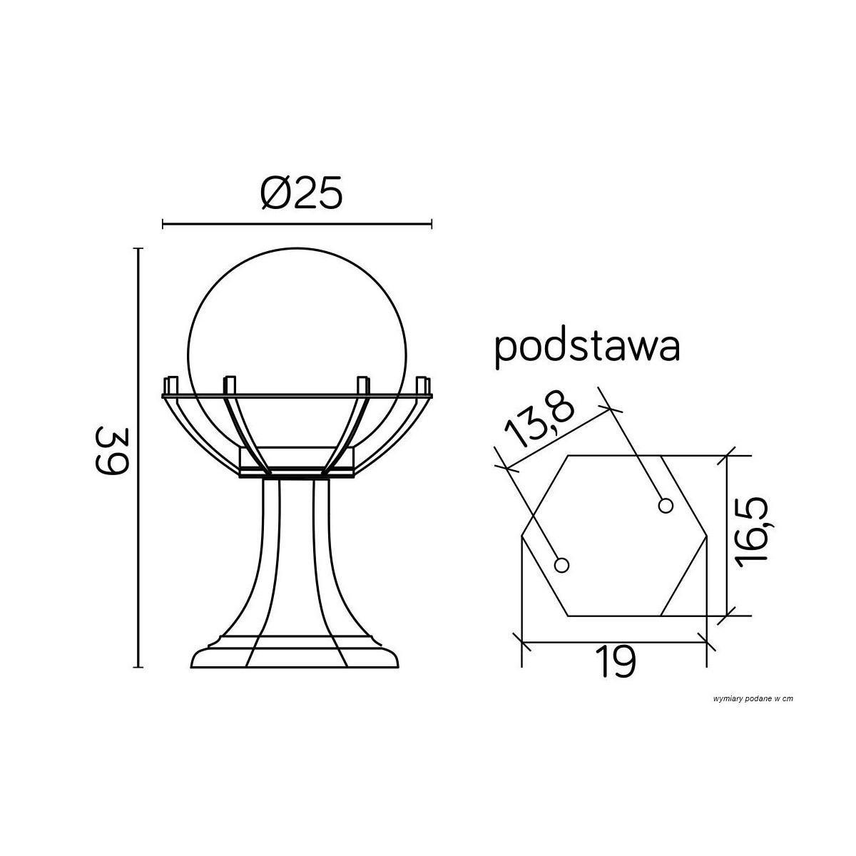 SU-MA Kule z koszykiem 200 39 cm K 4011/1/KPO Stojaca
