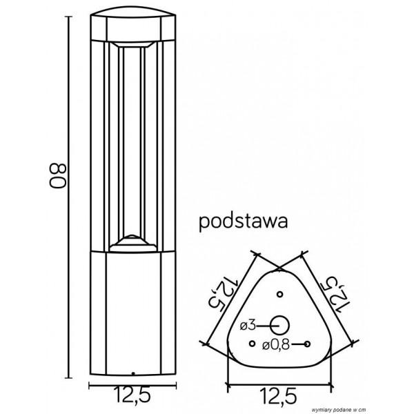 SU-MA FAN 80 cm GL 11205 Stojąca