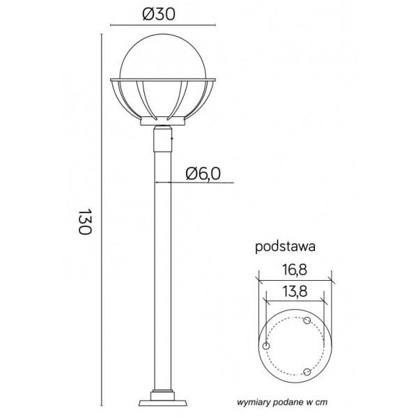 SU-MA Kule z koszykiem (130 cm) 250 K 5002/1/KPO 250 Stojąca