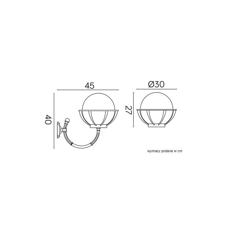SU-MA Kule z koszykiem 250 K 3012/1/KPO 250 Kinkiet
