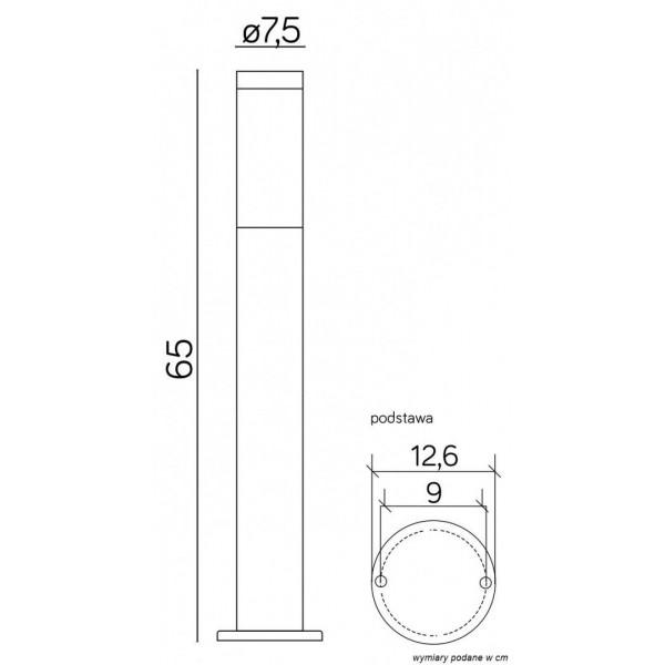 SU-MA Inox ST 022-650 65 cm Stojąca