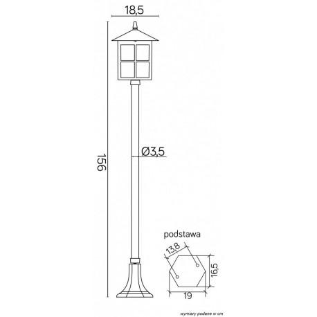 SU-MA Wenecja 156 cm K 5002/1 KW Stojąca