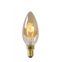 Lucide LED BULB 1xE14 bursztynowy 49043/03/62
