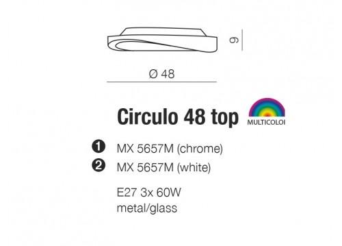 AZzardo CIRCULO 48 Biały MX5657M Sufitowa