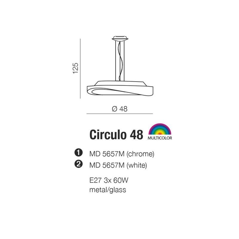 AZzardo CIRCULO 48 Biały MD5657M Wisząca