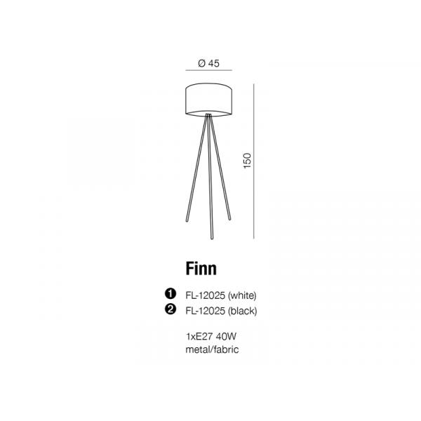 AZzardo Finn Biały 1xE27 60W AZ1037 Stojąca