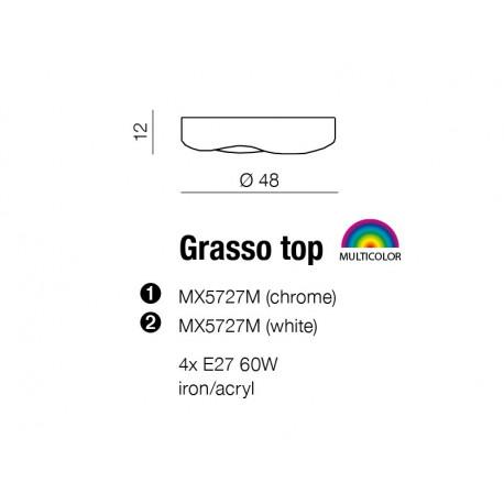 Azzardo GRASSO TOP WHITE 4xE27 Sufitowa Biały AZ0554