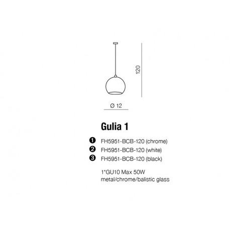 AZzardo GULIA 1 Biały FH5951-BCB-120 Wisząca
