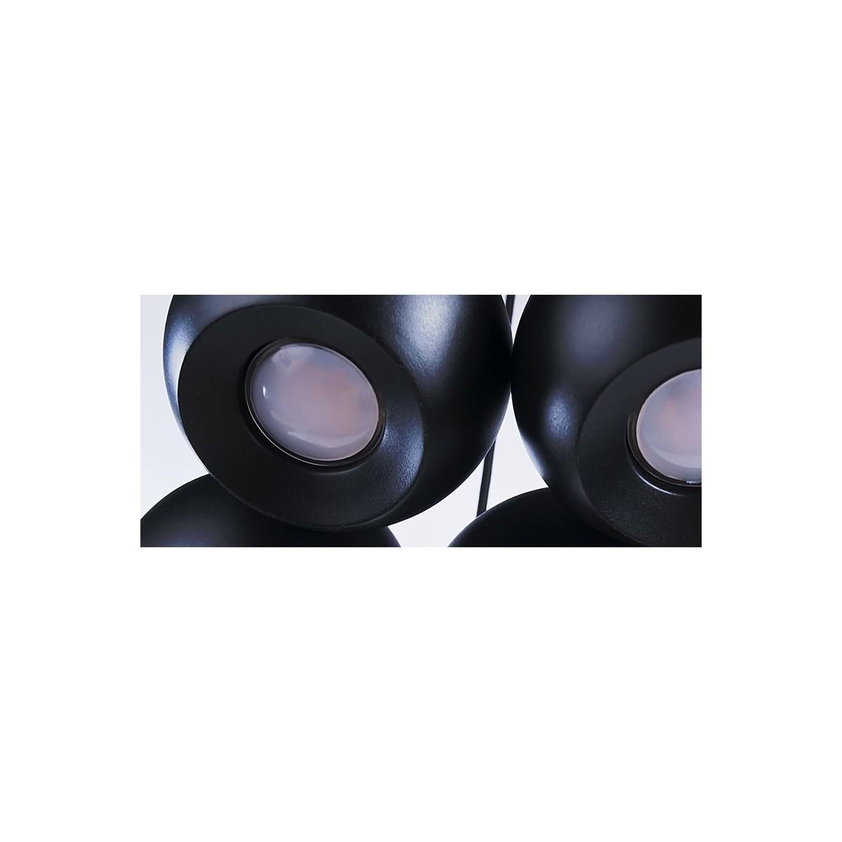 Azzardo GULIA 7 BLACK 7xGU10 Wisząca Czarny AZ0635