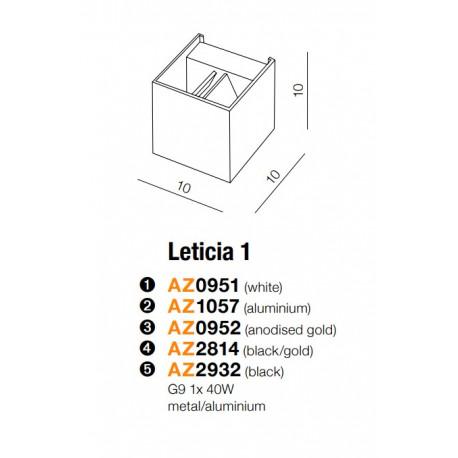 AZzardo Leticia 1 Biały 1xG9 40W AZ0951 Kinkiet