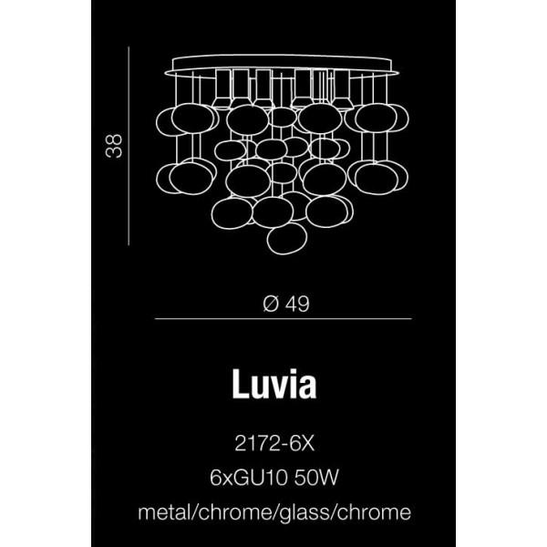 Azzardo LUVIA CHROME 6xGU10 Sufitowa/Wisząca Chrom AZ2541