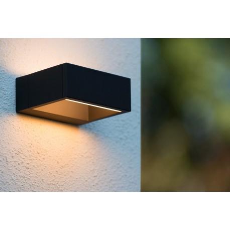 Lucide GOA LED 6W 420LM 3000K H15 W6 D13cm Czarny 28857/06/30 Kinkiet