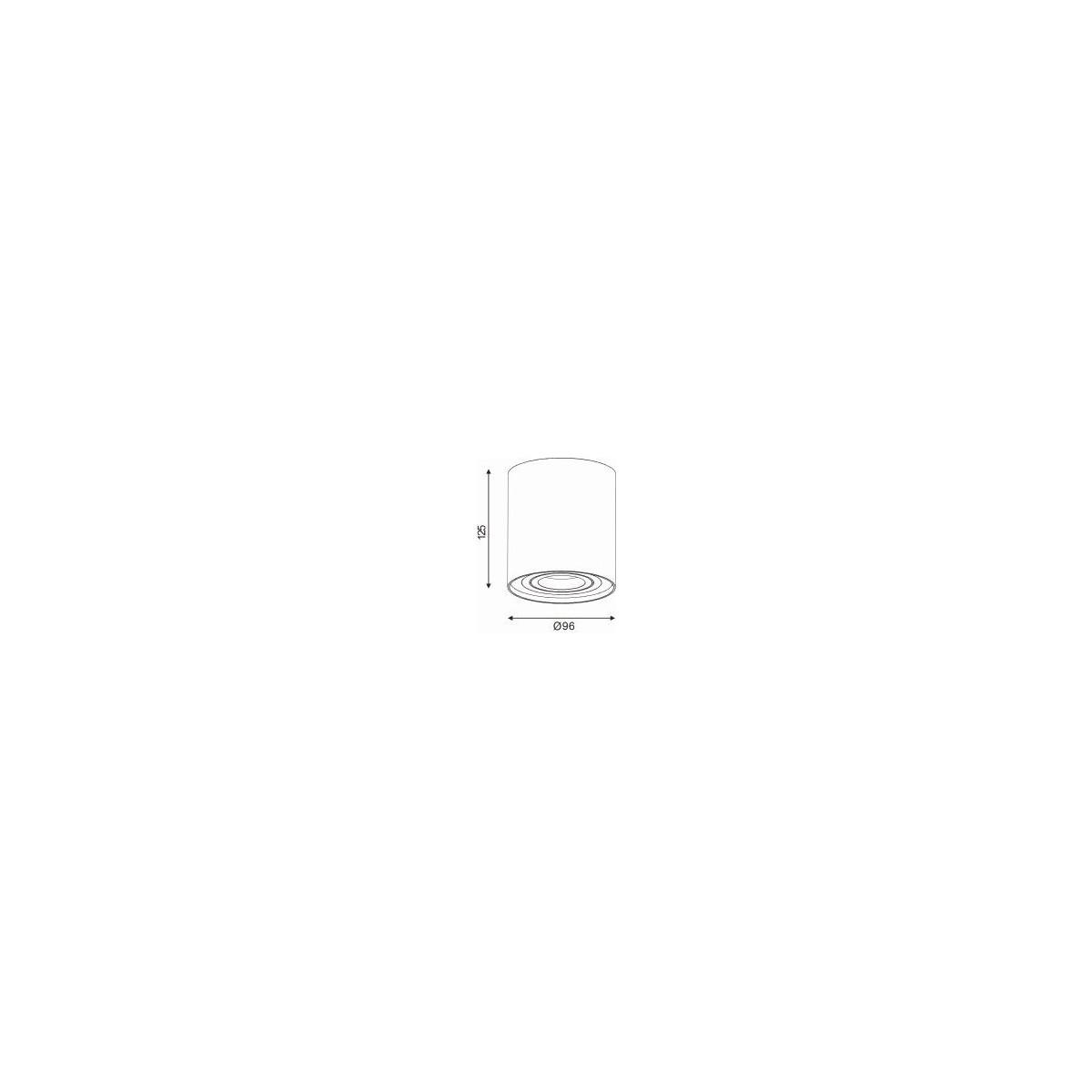 Lucide TUBE Spot Satyna Okrągły 1xGU10 22952/01/12 Sufitowa