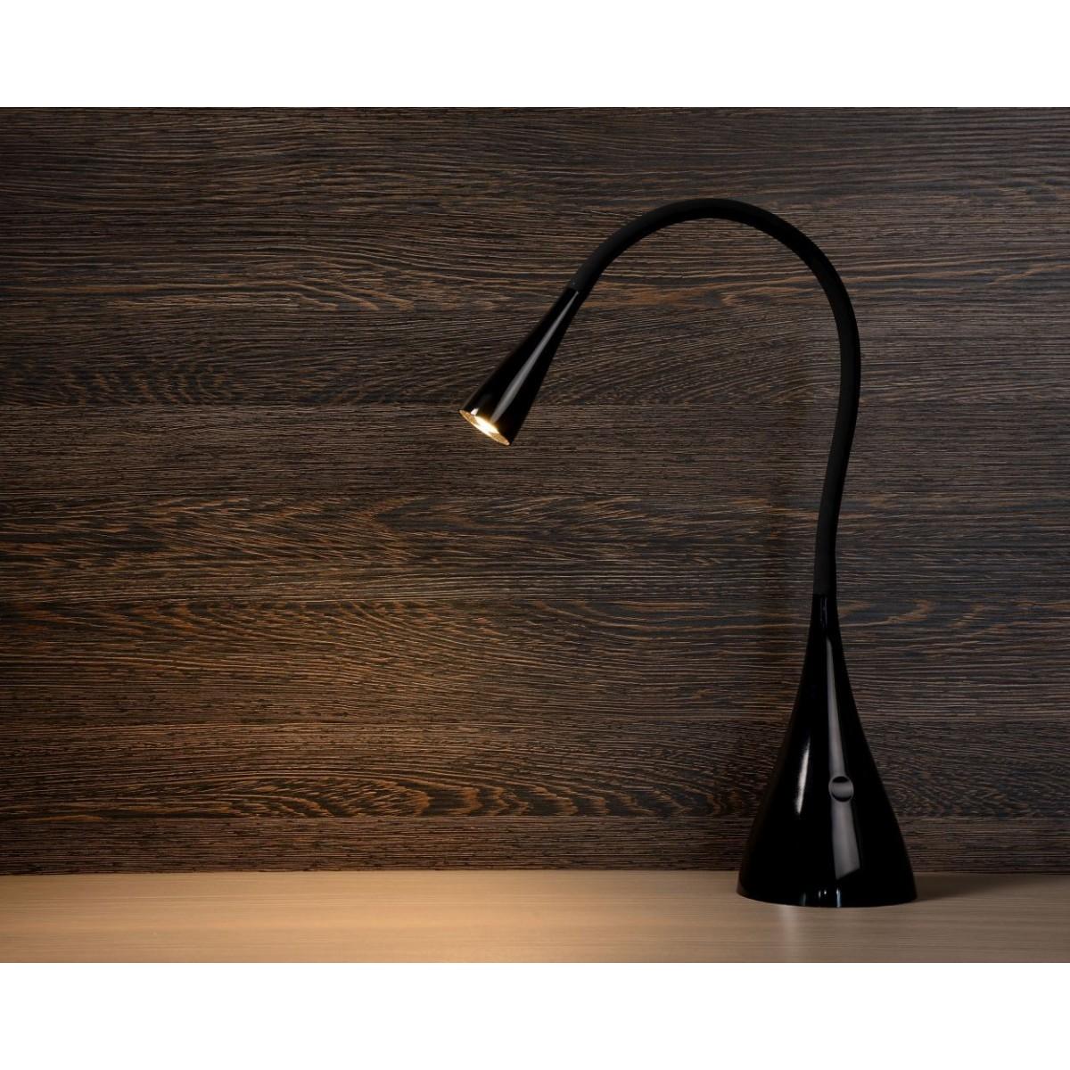 Lucide ZOZY Biurkowa LED 3W 3000K 300LM H48cm Black 18650/03/30