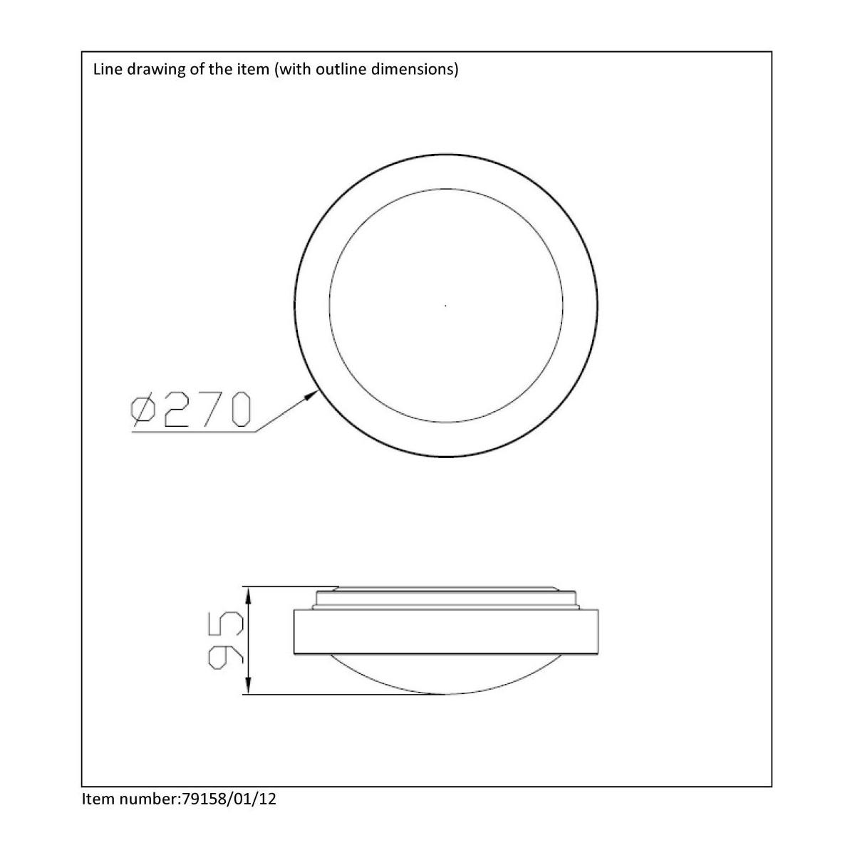 Lucide FRESH IP44 1xE27 D27cm Brush Alu 79158/01/12 Plafoniera