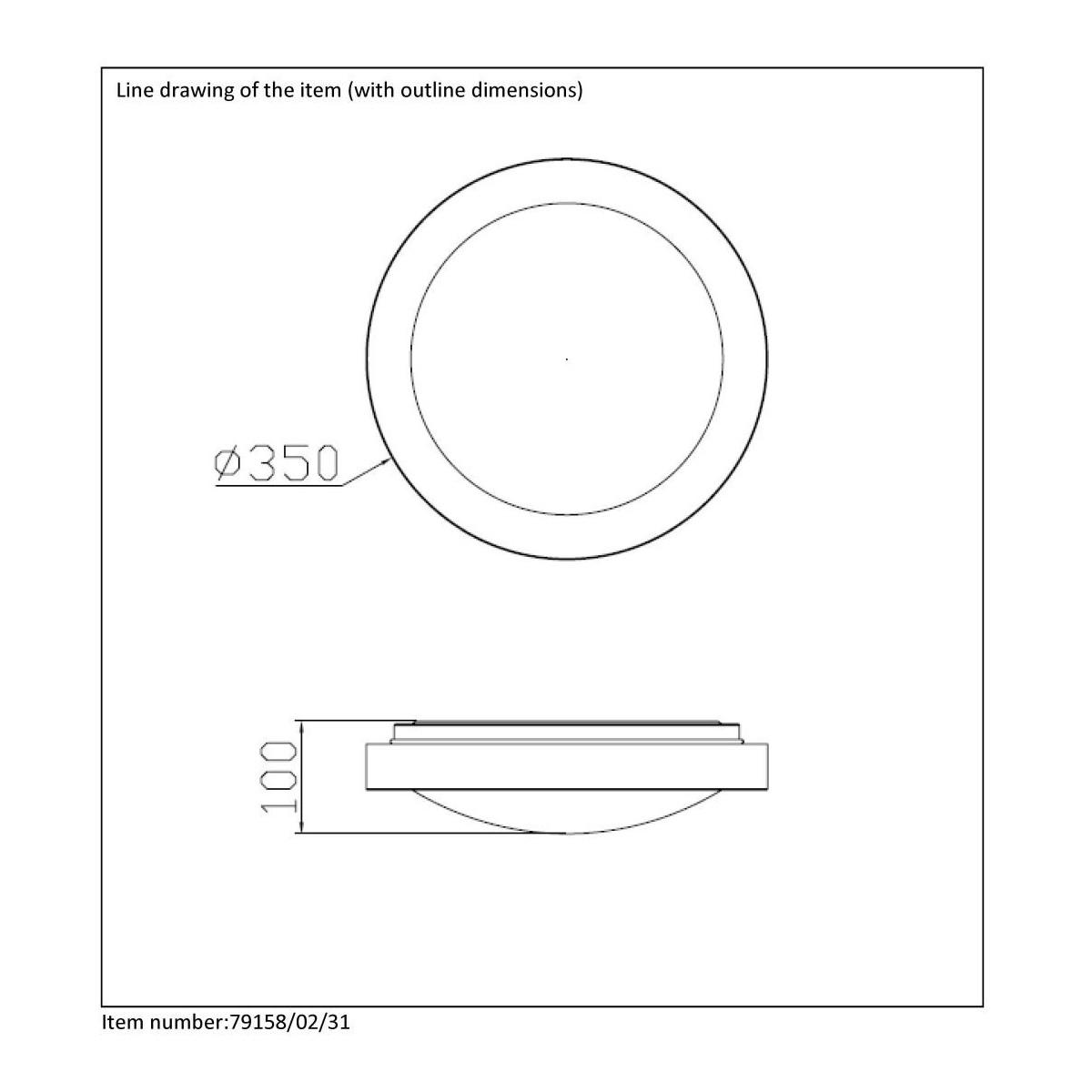 Lucide FRESH IP44 2xE27 D35cm Biały 79158/02/31 Plafoniera