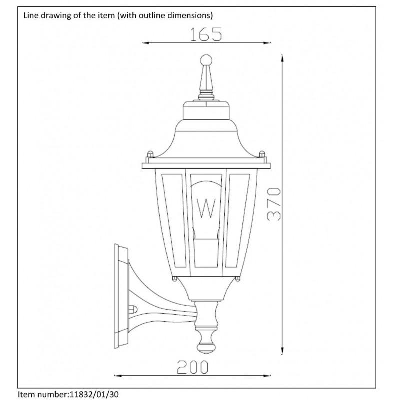 Lucide Outdoor lighting 'up' H37cm E27/60W Black 11832/01/30