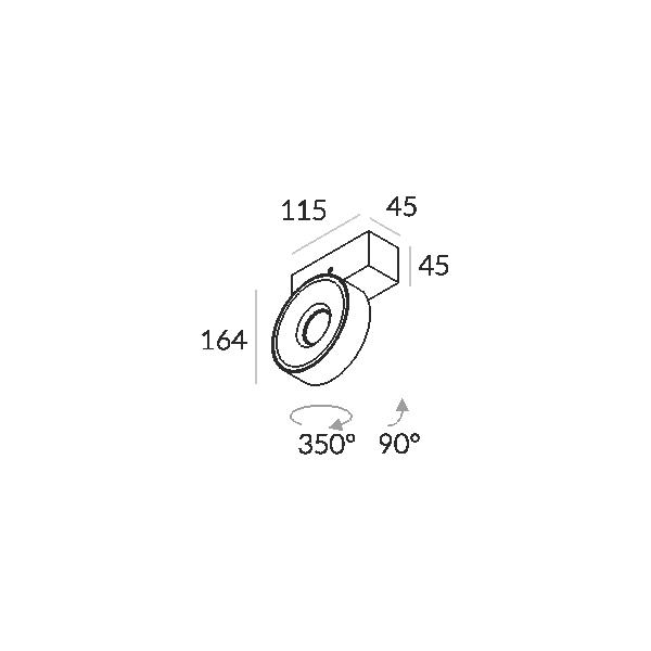 Labra IDEON 1 edge.LED 1x 7.5W 2-0720 Reflektor