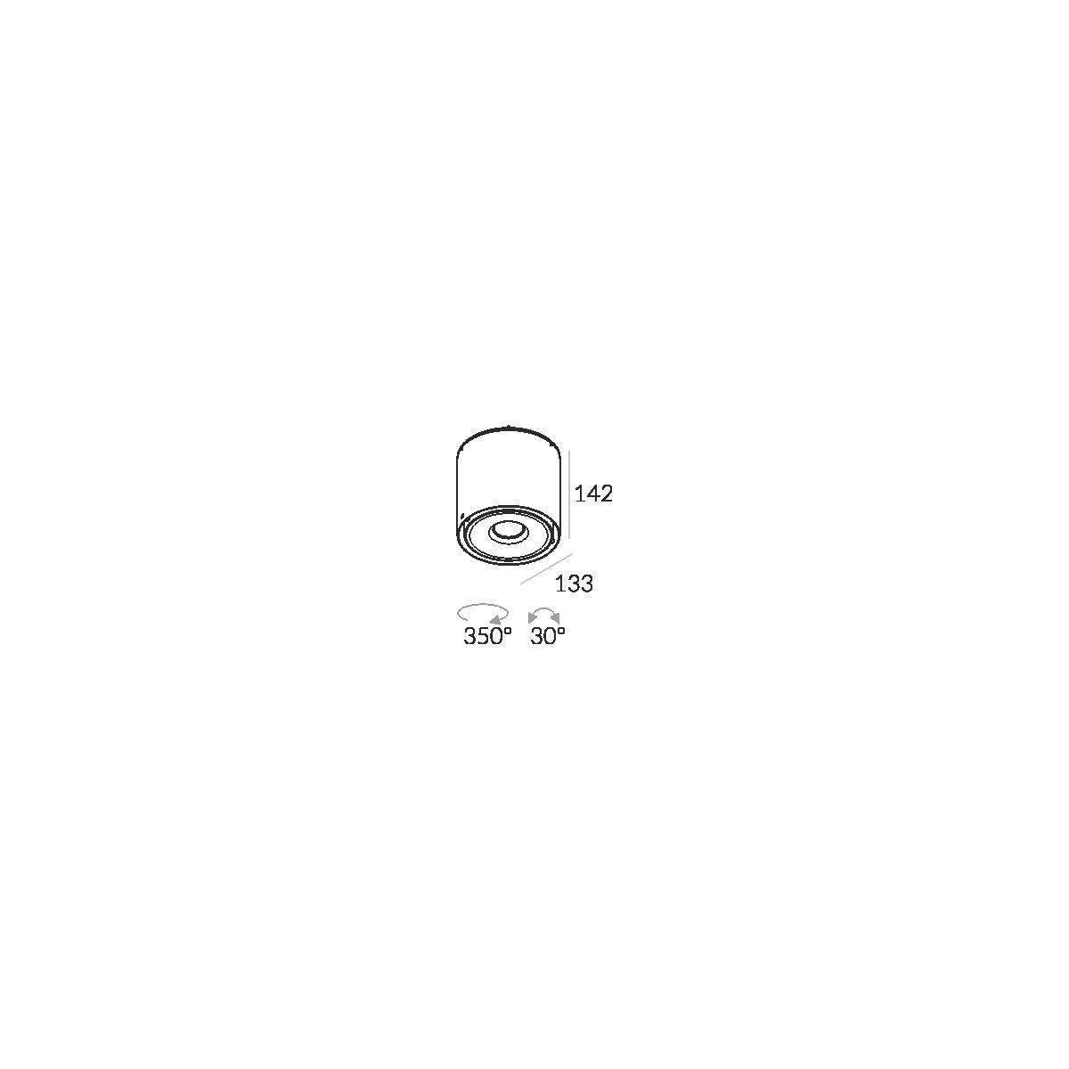 Labra NEX 1 NT edge.LED 1x 7.5W 3-0688 Sufitowa