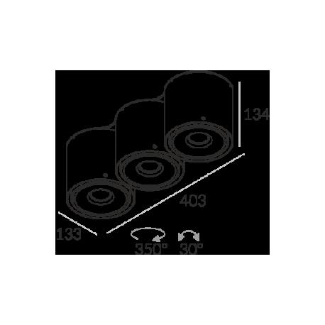 Labra NEX 3 NT edge.LED 3x 13W 3-0818 Sufitowa