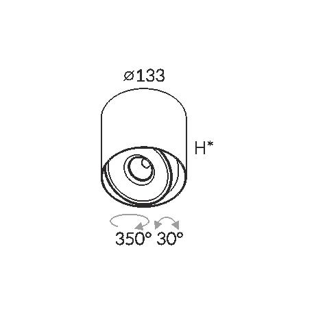 Labra PROXA MOVE NT H330 edge.LED 7.5W 3-0731 Sufitowa